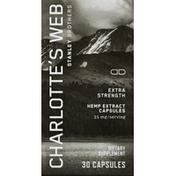 Charlotte's Web Hemp Extract, Extra Strength, Capsules