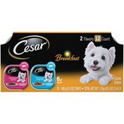 CESAR Breakfast Smoked Bacon & Egg and Scrambled Egg & Sausage Canine Cuisine Variety Pack