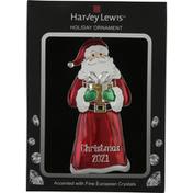 Harvey Lewis Holiday Ornament, Santa