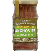 Season Anchovies, 100% Olive Oil, Flat Fillets