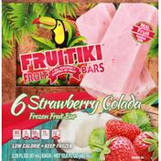 Fruitiki Fruit Bars, Frozen, Strawberry Colada