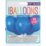 Unique Balloons, Royal Blue, 12 Inches