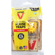 Victor Mouse Traps, Plastic Pedal, Pre-Baited
