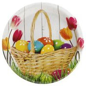 Party Creations Plates, Basket Bounty, 8-3/4 Inch