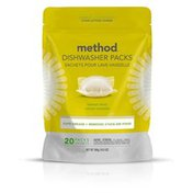 Method Power Dish Dishwasher Soap Packs, Lemon Mint