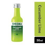 SVEDKA Cucumber Lime Flavored Vodka Mini Plastic Bottle