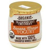 Traderspoint Creamery Yogurt, Organic, Banana Mango