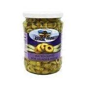 Kvuzat Yavne Green Sliced Olives In Jar For Salads