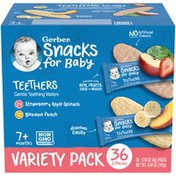 Gerber Snacks for Baby Teethers Strawberry Apple Spinach & Banana Peach Baby Snacks