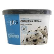 PICS Crunch Style Cookies & Cream Light Ice Cream