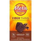 Metamucil Chocolate Fiber Thins Fiber Supplement