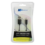 MobilEssentials Mobil Essentials Sync & Charge Cable 3 FT. Micro USB