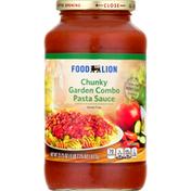 Food Lion Pasta Sauce, Garden Combo, Chunky