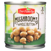 Our Family Whole Button Mushrooms