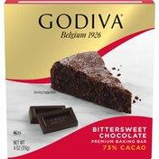Godiva Bittersweet Chocolate Premium Baking Bar with 73% Cacao