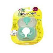 The First Years Gumdrop Orthodontic Pacifier, 0-6 mos.