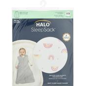 Halo Blanket, Medium, Sunshine Rainbows Print Cotton, 6 to 12 Months