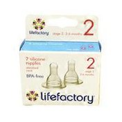 Lifefactory Clear Silicone Nipples Stage 2