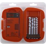 Black & Decker Masonry Drill Bit Set, 5 Pieces
