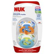 NUK Pacifiers, Orthodontic, Natural Shape, Silicone, 6-18 Months
