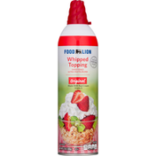 Food Lion Whipped Topping, Sweetened, Original