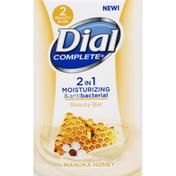 Dial Beauty Bars, 2 in 1, Moisturizing & Antibacterial, Manuka Honey