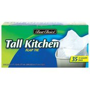 Best Choice Tall Kitchen Handle Tie Trash Bags