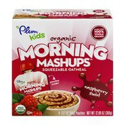 Plum Organics Plum Kids Organic Morning Mashups Raspberry Swirl Squeezable Oatmeal - 4 CT