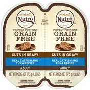 NUTRO Perfect Portions Real Catfish and Tuna Recipe Cuts in Gravy Adult Cat Food