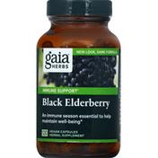 Gaia Herbs Black Elderberry, Immune Support, Vegan Capsules