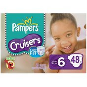Pampers Cruisers Big Pack Size 6 Diapers