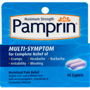 Pamprin Maximum Strength Multi-Symtpom Menstrual Pain Relief Caplets