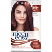 Clairol Nice 'n Easy, 4BG/113 Natural Dark Burgundy, Permanent Hair Color, 1 Kit Female Hair Color