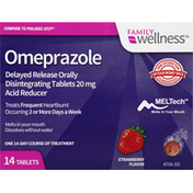 Family Wellness Omeprazole, Delyade Release Orally Disintegrating Tablets, Strawberry