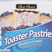 Best Choice Frosted Blueberry Toaster Pastries