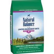 Natural Balance Dog Food, Lamb Meal & Brown Rice Formula, Small Breed Bites