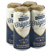 Austin East Ciders Original Dry Cider, 4 Pack, Can