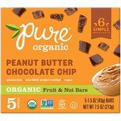Organic & Pure Pure Fruit & Nut Bar Peanut Butter Chocolate Chip 7.5oz