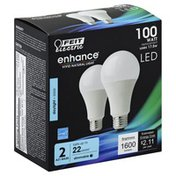Feit Electric Light Bulbs, LED, Replacement, Daylight, 100 Watts