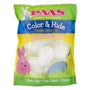 PAAS Color & Hide Dyeable Plastic Eggs