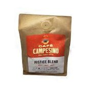 Cafe Campesino Justice Blend Full City Whole Bean Arabica Coffee