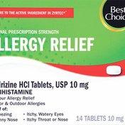 Best Choice Allergy Relief Cetirizine Tablets