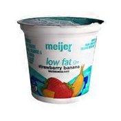 Meijer 1% Milkfat Low Fat Yogurt, Strawberry Banana