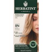 Herbatint Haircolor Gel, Permanent, Light Blonde 8N