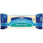Kraft Monterey Jack 2% Milk Reduced Fat Chunk Cheese