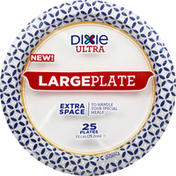 Dixie Plates, Extra Space, Large, 11-1/2 Inches