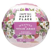 Find Your Happy Place Luxurious Fizzing Bath Bomb Blush Rose And Magnolia