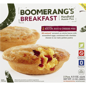 Boomerang's Aussie Pies, Handheld, Uncured Bacon, Egg & Cheese