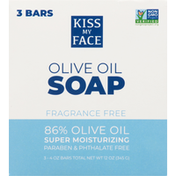 Kiss My Face Olive Oil Soap, Fragrance Free