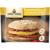 Sweet Earth Harmless Ham & Chickpea Patty w/Sundried Tomatoes Frozen Sandwich